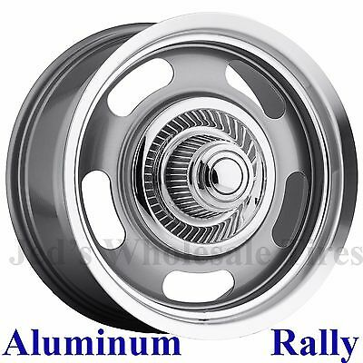 Aluminum Rally RIM WHEEL 17x8 5/4.5 Vision 55 for vintage Dodge Charger Coronet