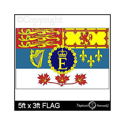 5' x 3' FLAG Royal Standard of Canada Canadian Queen