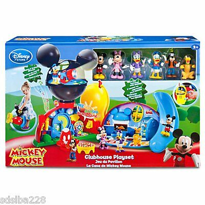 NEW Disney Mickey Mouse Deluxe Clubhouse playset 6 figures Minnie Donald Goofy