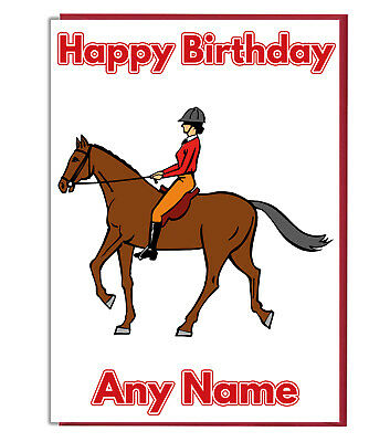 Personalised Horse Riding Birthday Card - Daughter Son Sister Best Friend Girls