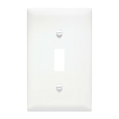 PASS & SEYMOUR 1 Gang White Plastic Toggle Switch Wall Plate Unbreakable 10-Pack