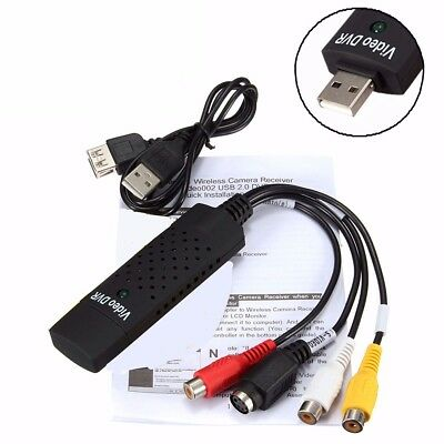Audio Video Adapter USB RCA VHS to PC DVD Converter Capture for Windows 7/8 XP