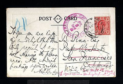 12282-TRANSVAL-SOUTH AFRICA-POSTCARD CAPETOWN to SAN FRANCISCO (usa)1913.BRITISH