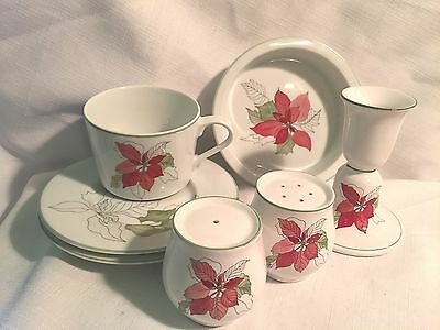 Block Bernarda Spal Watercolors Goertzen Poinsettia 7 Pieces Salt Pepper Candle