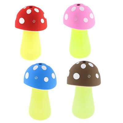 USB 2.0 Connctor LED Water Purification Mushroom Lamp Humidifier