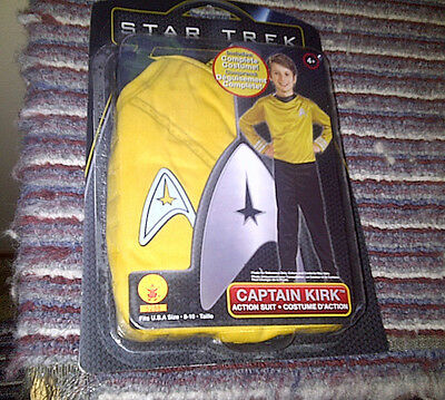 Boys Size 8-10 Star Trek Captain Kirk Costume New in Package
