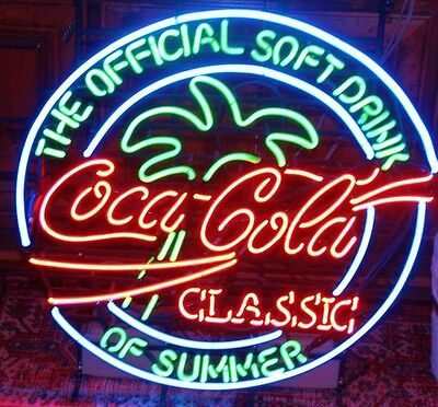 1980's Coca-cola rare Neon Sign Coca-cola Classic The Official Drink of Summer