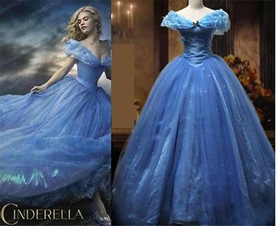 Ladies Cinderella Princess Fancy Dress Costume Womens Skirt Adult Party Cosplay