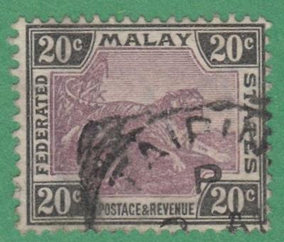 Malaya Federation #24 used 20c tiger 1901 wmk 2 cv $13.50