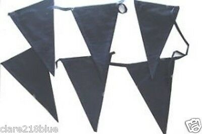 NEW Navy Blue Fabric Cord Bunting Chic Wedding Baby Garden Party 100% Cotton
