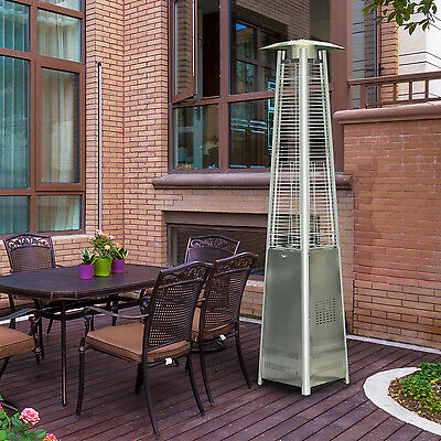 Outsunny 42000BTU Pyramid Patio Heater Outdoor Yard Stainless Steel Propane  NewFire Sense Full Length Patio Heater Cover Black    28 41   PicClick. Fire Sense Pro Series Patio Heater Vinyl Cover. Home Design Ideas
