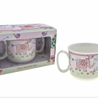 Little Bird & Ellie Pink Twin Handled Cup By Cavania