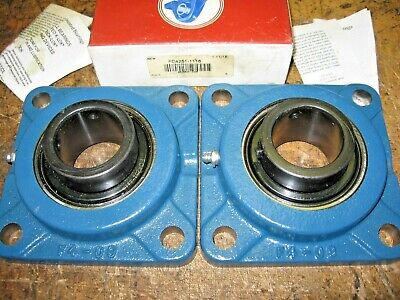 "Set of 2)  MB Manufacturing FC4251-1116 Flange Mounted 1-11/16"" Block Bearings"