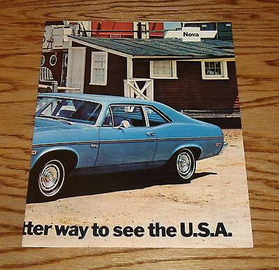 Original 1972 Chevrolet Nova Facts Features Sales Sheet Brochure 72 Chevy