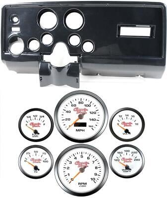 69 Pontiac Firebird Carbon Dash Carrier Concourse White Face Gauges