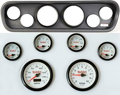 64-66 Mustang Black Dash Carrier Concorse White Face Gauges