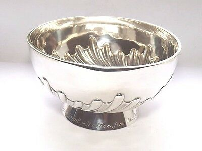 Good Quality Antique Victorian 139 Grams Solid Silver Sterling Bowl London 1888