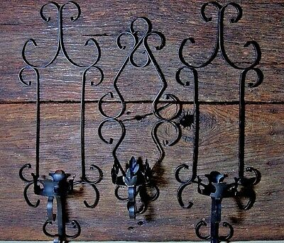 Distressed Vintage Iron Pillar Candle Holders Home & Garden Wall Sconce Lights