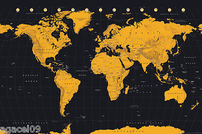 Official World Map Historical Maxi Poster 91.5 x 61cm World Map Accvrat WallArt