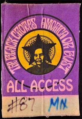 Authentic Silk Backstage Pass Black Crowes Amorica Or Bust Concert Tour Ticket