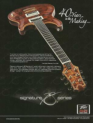 Hartley Peavey Signature HP Series electric guitar 2005 ad 8 x 11 advertisement