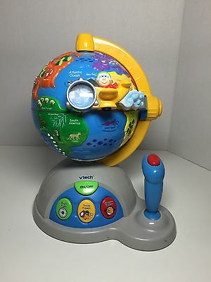 Vtech Toy Spinning Globe Joystick Geography Earth Map Battery Operated TT070616