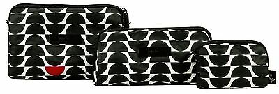Ju Ju Be Onyx Be Set Black Widow 3 Bags Pouch Set Baglet NEW