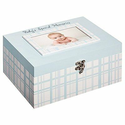 Blossoms & Buds Baby Boy Everyday Wooden Memory Box Child Keepsake - Blue