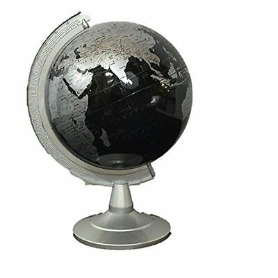 "Repologle Globes Political Globe With Country Lines Silver and Black 6"" Tall"