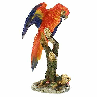 Wild Life Animal Gift Ornament Figurine Parrot Statue Multi-Color