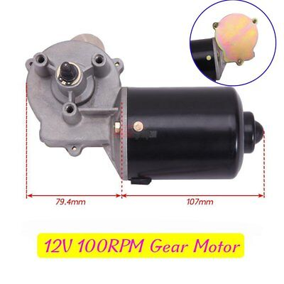 Commercial DC Reversible 12v Low Speed Gearmotor 100RPM Electric Gear Motor