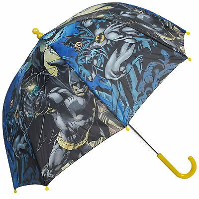 Official Batman Boys Umbrella Kids School Bubble Panel Brolly Gift Dome Dc Comic