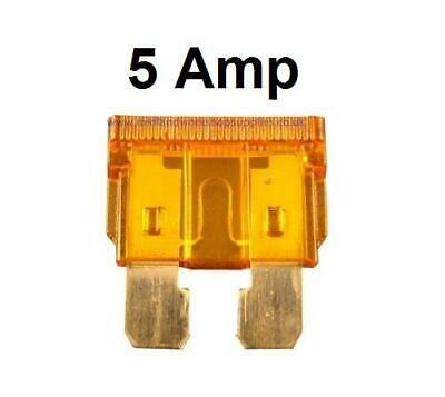 Car Spare 100x Standard Blade Fuses 5 Amp For Marine & Automotive