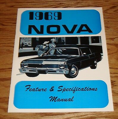 1969 Chevrolet Nova Feature & Specifications Manual 69 Chevy