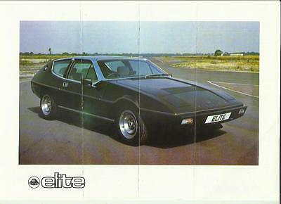 LOTUS ELITE  SALES 'BROCHURE'/SHEET MID 70's