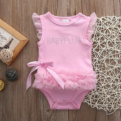 Newborn Infant Baby Girl Romper Bodysuit Dress Clothes Outfits 3 6 9 12 18 24M