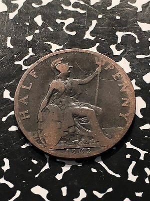 1902 Great Britain 1/2 Half Penny Lot#5230