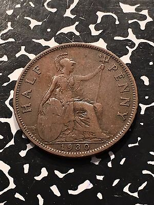 1930 Great Britain 1/2 Half Penny Lot#5271