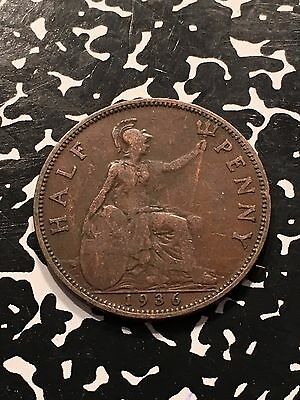 1936 Great Britain 1/2 Half Penny Lot#5276c