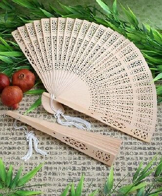 1 x Sandalwood Fan Favour - Wedding accessories and favours - NEW - 8 inches