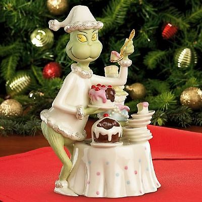 Lenox Dr Seuss Grinchy Delights Hand Painted Holiday Feast Figurine