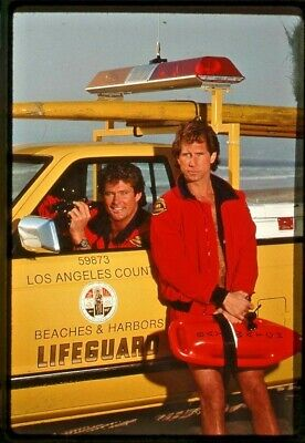 BAYWATCH STARRING David Hasselhoff PAMELA ANDERSON  ORIGINAL SLIDE 8