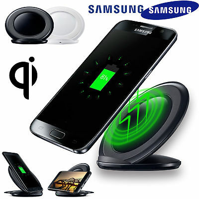 Wireless Charging Stand Qi Fast Charger Dock for Samsung Galaxy S7 S8 Plus LG G6