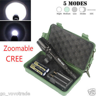 G700 X800 Zoomable 8000 Lm XM_L T6 LED 18650 Battery Tactical Torch Flashlight