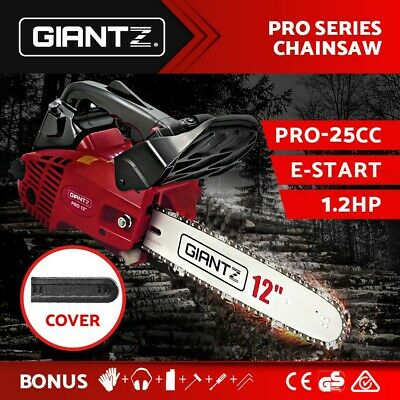 "GIANTZ NEW 25cc Commercial Petrol Chainsaw 12"" Bar Tree Pruning Garden Chain Saw"