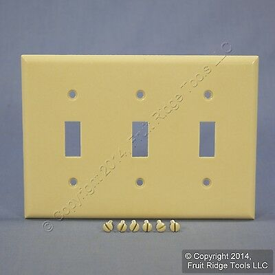 Eagle Ivory 3-Gang Toggle Switch Cover Thermoset Wall Plate Switchplate 2141V