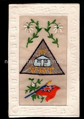 Wwi Silk Embroidered Postcard S171 - W. G. T. Camp 1917