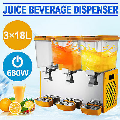 54L Juice Beverage Dispenser Stainless Steel Cold Drink 14.25 Gallon Great