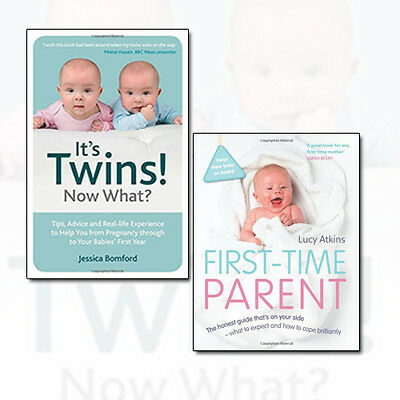 First-Time Parent and It's Twins! Now What Collection Childcare 2 Books Set NEW
