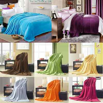 1/2/3/4/5Pcs New Super Soft Plush Fleece Sofa Bed Cover Warm Blanket Throw Rug